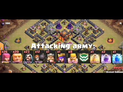 Clash of Clans - Town Hall 9 Tips - Part 2 - GOWIPE and War Attacks!