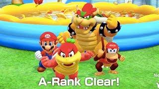 Super Mario Party - River Survival (Mario, Bowser, Diddy Kong & Pom Pom) | MarioGamers