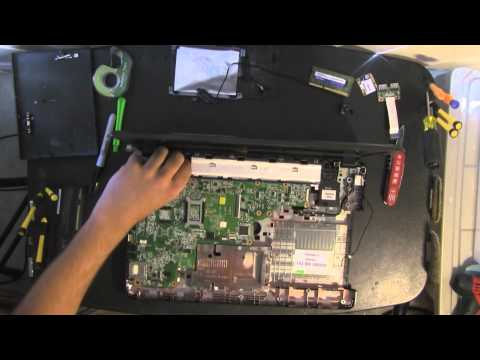 COMPAQ CQ57 take apart video. disassemble. how to open disassembly