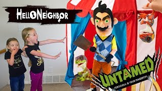 Hello Neighbor in Real Life!!! UNTAMED Fingerlings Dinosaurs Scavenger Hunt!