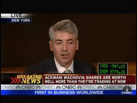 Ackman on Wachovia
