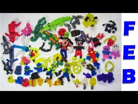 Rainbow Loom Charms Collection: FEBRUARY DIY Mommy Charms Review