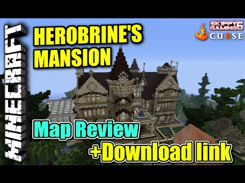 Minecraft PS3 - HEROBRINE 'S MANSION - Map Review + Download link ( PS4 )