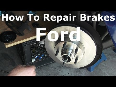 How To Repair Brakes Rotors And Bearings Ford Ranger   Cómo reparar Frenos rotores y