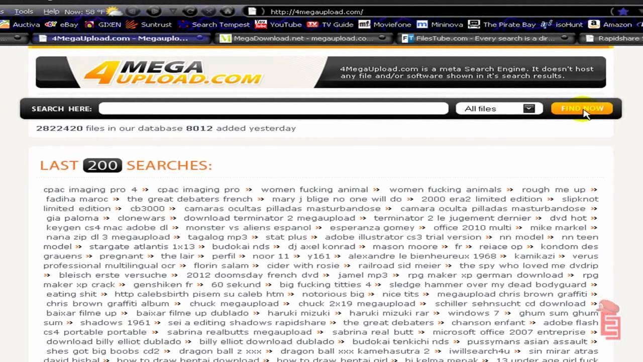Sexuploader search megaupload