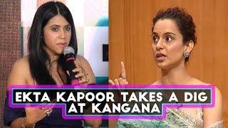 Download After Karan Johar, Has Ekta Kapoor Taken A Sly Dig At Kangana Ranaut?   SpotboyE 3Gp Mp4