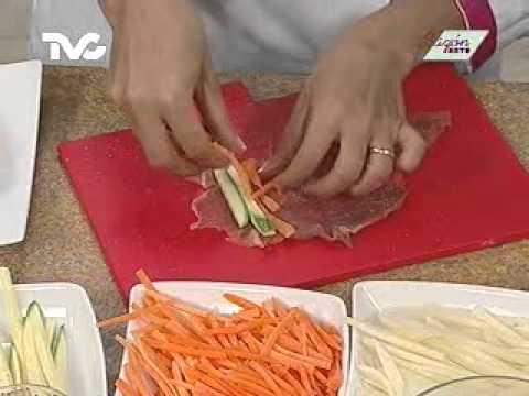 Receta para preparar Rollitos de Carne de Res