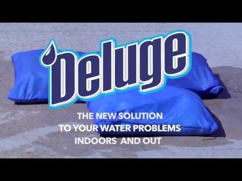 FLOOD PROTECTION Deluge Sandless Sandbag Demo