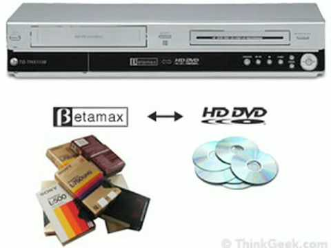 Betamax to HD-DVD Converter from ThinkGeek