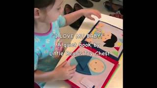 """Quiet book  """"Im a big sister!""""  - Little Bean's Toy Chest"""