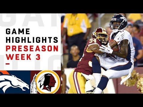 Broncos vs. Redskins Highlights | NFL 2018 Preseason Week 3