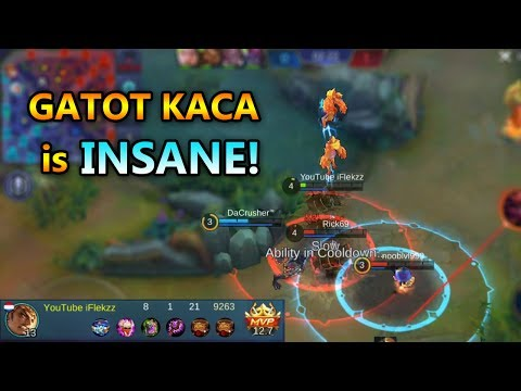 INSANE FIRST GATOT KACA GAMEPLAY - BEST HERO - MOBILE LEGENDS