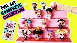 LOL HAIR GOALS FULL SET+LOL SURPRISE HAIRGOALS MAKEOVER SERIES WITH REAL HAIR COMPLETE COLLECTION.