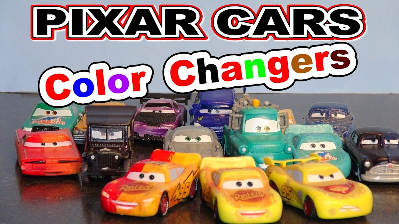 pixar cars more color changers with 3 lightning mcqueen 39 s. Black Bedroom Furniture Sets. Home Design Ideas