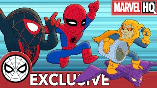 Spidey & Miles Save the City From Trash | Marvel Super Hero Adventures - Sticky Rain | SHORT
