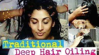 Traditional Deep Hair Oiling| Heavy hair Oiling | GeetaKAgarwal