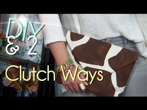Make No Sew Clutch   Purse/Case/Envelope