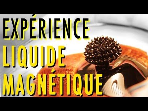 Dr Nozman - Expérience Liquide Magnétique - Ferrofluide