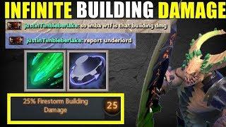 Infinite Firestrom Building Damage [ Firestorm + Rearm ] | Dota 2 Ability Draft