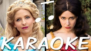 CINDERELLA vs BELLE Karaoke (Princess Rap Battle) Instrumental Sing-along