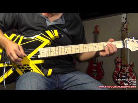 How to play 'Beautiful Girls' - Van Halen - 5150GuitarLessons.com (sample)