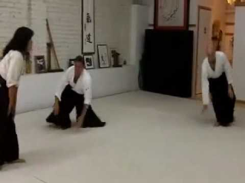 Aikido Girl Against 3 Guys Randori Ginny Breeland Image 1