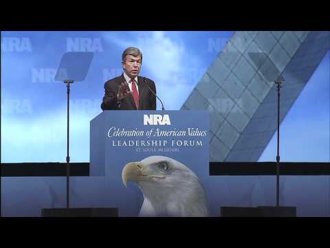 2012 NRA Celebration of American Values Leadership Forum - Sen. Roy Blunt