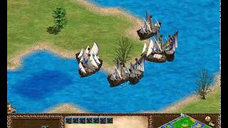 Age of Empires II River attack