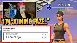 Ninja Wants to Join FaZe After Luminosity Contract | Fortnite Best Moments
