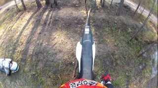Honda CRF150r, Suzuki DRZ 125L, Kawaksaki KLX 140 Trail Riding Day 3 Part (1/2) + Crash