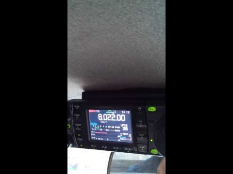 ICOM IC-7000 receiving VKS-737 Sked on 8022 Khz