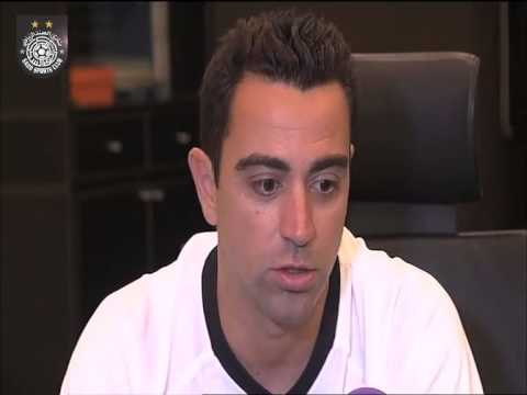XAVI Interview After Press Conference
