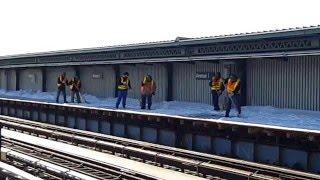 Above Ground MTA Subway Service Restored in Brooklyn - Blizzard 2016 [HD]