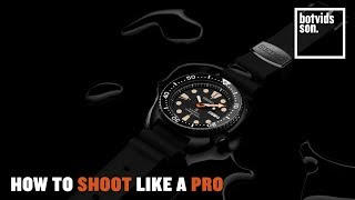 Product Photography Tutorial | The Seiko Watch