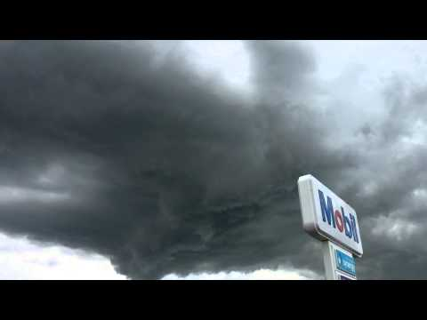 Amazing funnel producing cloud structure Mercer, New Zealand