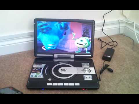 Illustration of Portable DVD Player - Monsters Inc DVD.