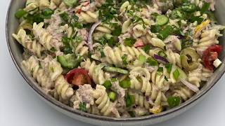 Cook With Yesmeena | How to make tuna pasta salad- Easy, healthy recipe -Clean eating tuna pasta -