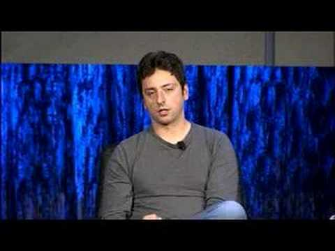 Sergey Brin and Larry Page with Jim Fallows at Zeitgeist '07