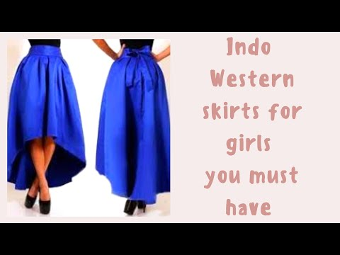 Fashion in 2018 Designs skirts for college girls , party nd wedding. Indo Western dress designs