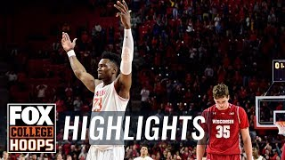 Maryland vs. Wisconsin   FOX COLLEGE HOOPS HIGHLIGHTS