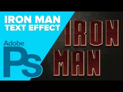0 IRON MAN Text in Photoshop
