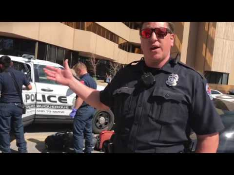 Two ABQ Police Officers try to coerce me from filming in public.