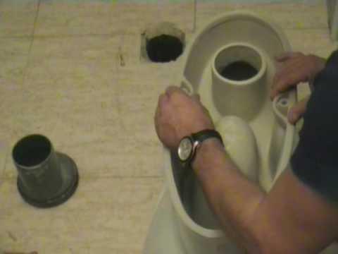 Instalaci n w c con junta estanca youtube for Como fijar un inodoro al piso