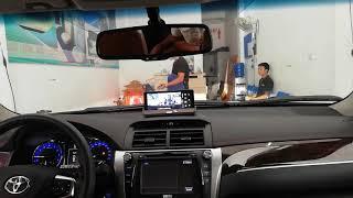 Hotline 0986921273 màn hình camera hành trình để mặt taplo xe oto, lắp camera hành trình cao cấp