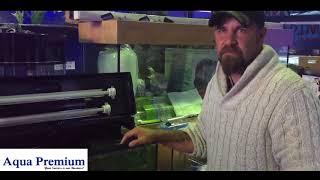 John Bailey setting up an Aquael Brillux planted underwater waterfall tank