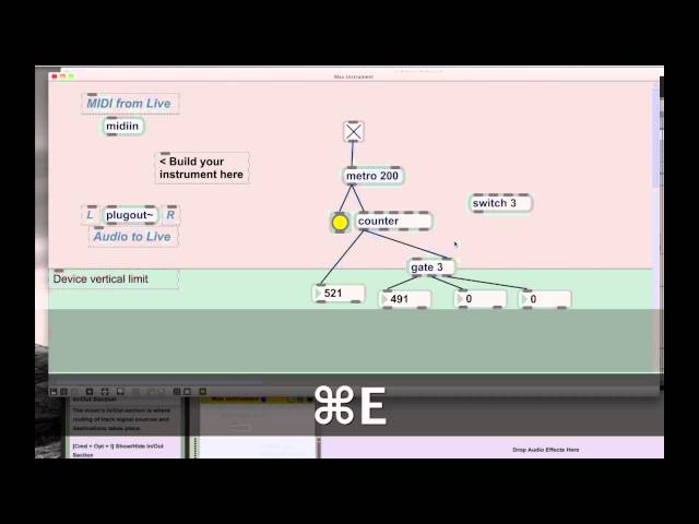 M4L/MAX/MSP/Jitter MaxforLive Tutorial Intro to programming dynamic routing w/ switch & gate
