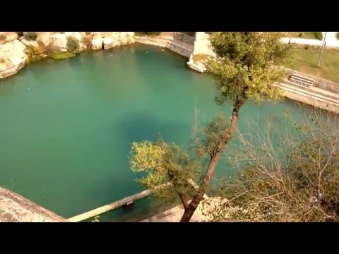 Beautiful pond at the Katas Raj Temples near Islamabad, Pakistan