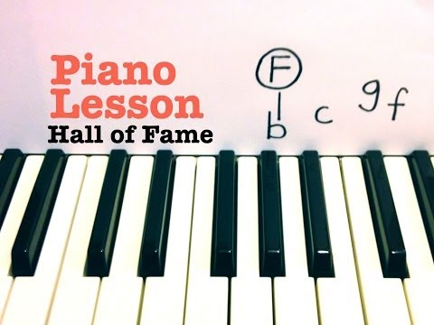 Hall Of Fame- Piano Lesson- The Script (ft Will.i.am)  Todd Downing