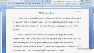 How to Format and Start the Birthday Essay Project