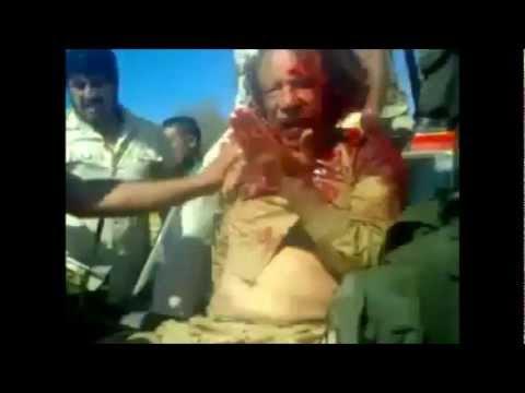2 Uncut Gaddafi videos of his capture, more than 2 minutes each Kaddafi Uncensored